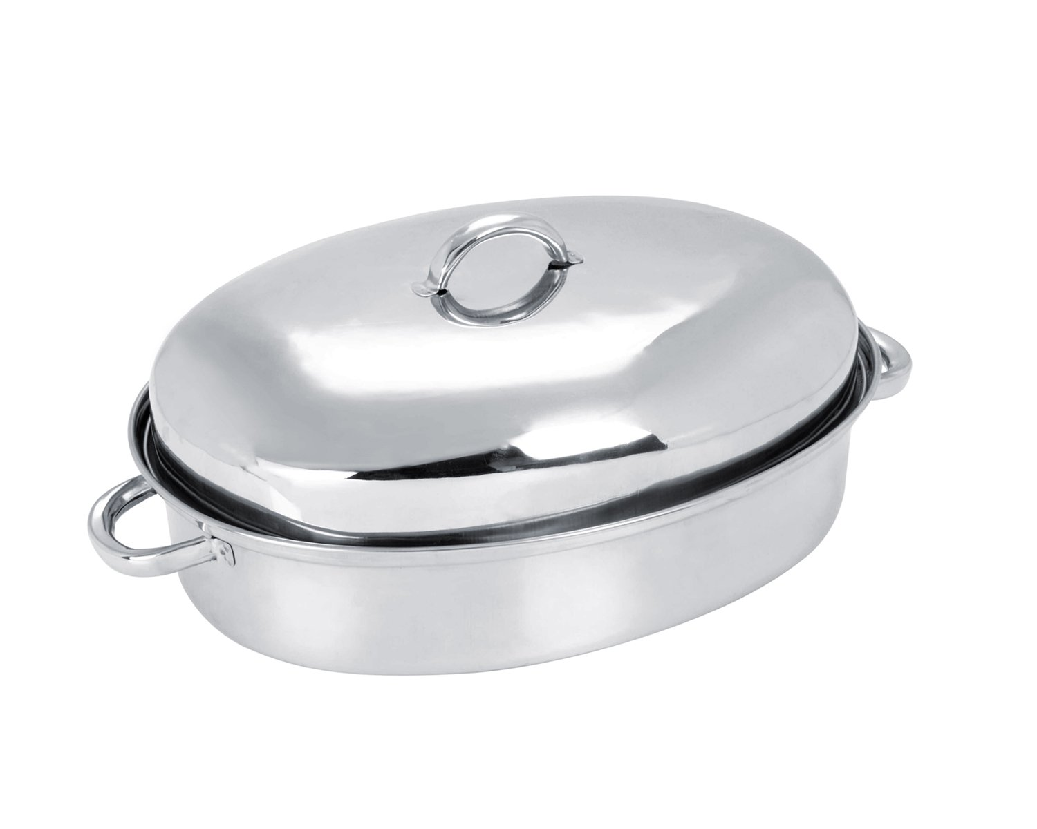 Stainless Steel Oval Roaster with Rack and Self Basting Lid 37 cm SQ Professional