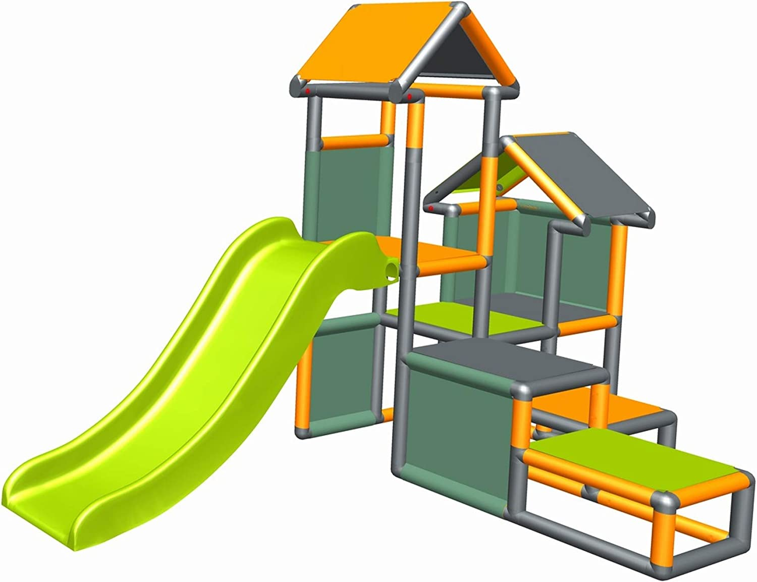 move and stic Play Tower Climbing Frame Gesa with Slide for Small Children with Crawling Tunnel Mas 7 Colours Multicolor
