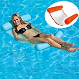 HomeYoo Inflatable Floating Bed, Water Sofa Swimming Pool Air Bed Swimming Pool Spring Float Summer Outdoor Swimming Adult Water Floating Bed & Inflatable Swimming Pool Lounger Water Hammock (Orange)
