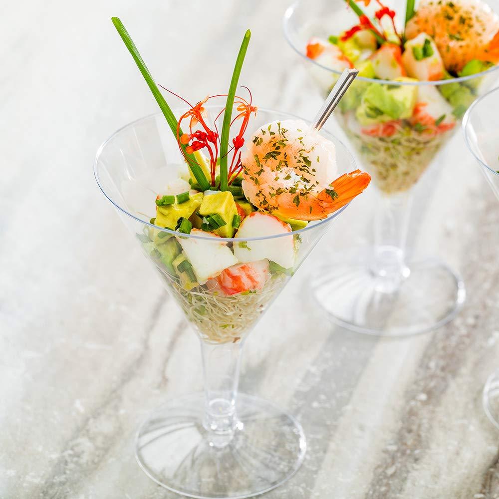 Plastic Martini Glass, Disposable Martini Glasses - Crystal Clear Premium Plastic - 7.5 oz - 100ct Box - Restaurantware by Restaurantware (Image #3)