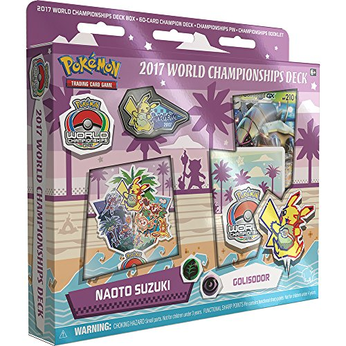 Pokemon TCG: Naoto Suzuki 2017 World Championship Deck Golisopod-GX Golisodor Deck Includes Full 60 Card Championship Deck, 2017 World Championship Booklet, Collector's Pin & Deck Box ()