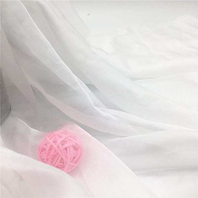 Fabric Soft Chiffon Scarf Voile Yard Wed Georgette Voile Material Sheer Tulle