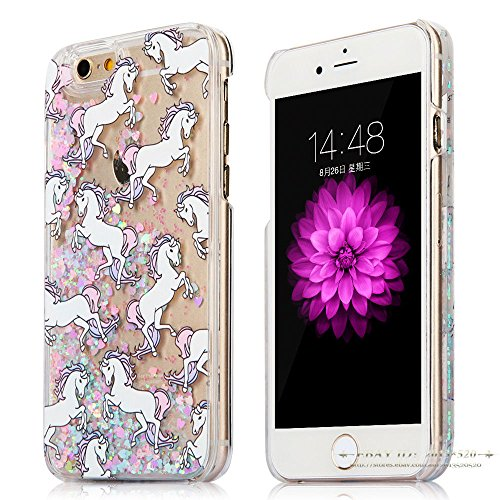 Shalleen Dynamic Quicksand Glitter Liquid Unicorn Phone Case Cover For iPhone7 (Lg3 Phone Case Hello Kitty)