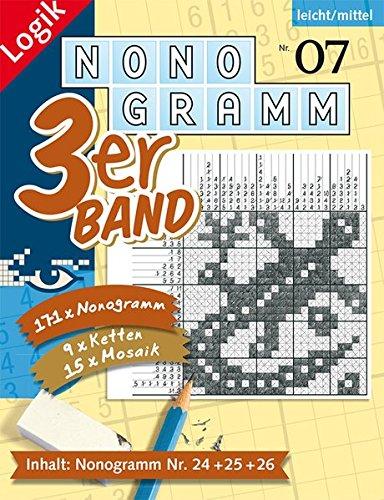Nonogramm 3er-Band Nr. 7 (Nonogramm 3er-Band / Rätsel fürs Auge)