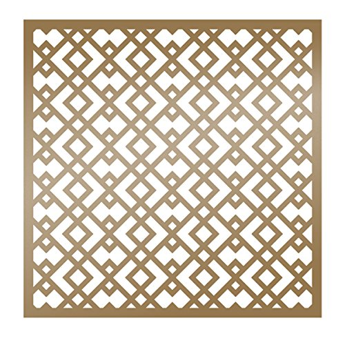 Artdeco Creations ULT157831 Ultimate Crafts the Ritz Stencil 6''X6''-Geometric by Artdeco Creations
