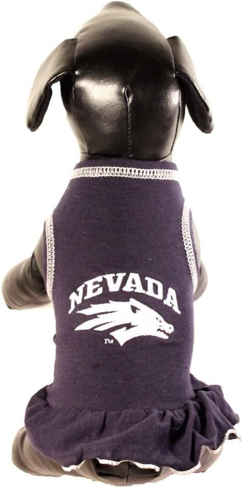 Team Color, Large NCAA Nevada Wolf Pack Cheerleader Dog Dress