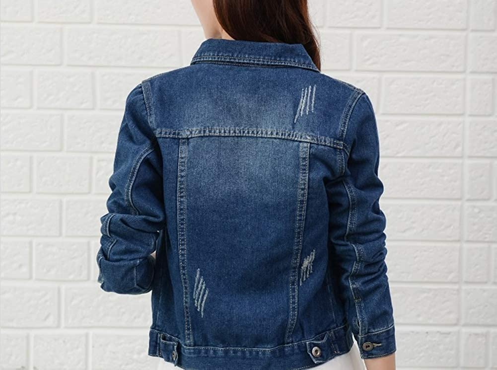 Cystyle 2020 Damen Jeansjacke Übergangsjacke Kurz Jacke Denim Casual In Klassischer Form Bekleidung
