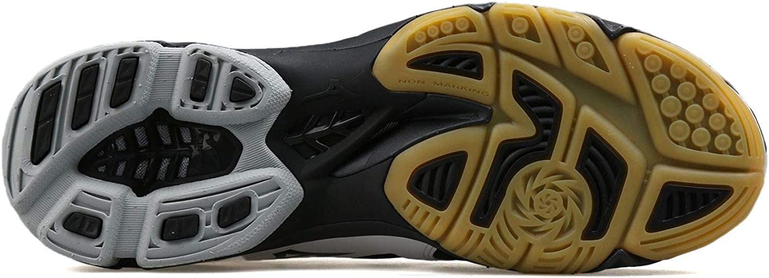 D Mizuno Mens Wave Lightning Z3 Lace-Up Volleyball Shoes Black 11.5 Medium
