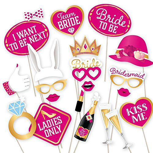 Bachelorette Photo Props by PartyGraphix. Perfect for Brides to Be Photo Booth. Can Handle Any Party. 30 - Booth Photo A Make A For Party To How