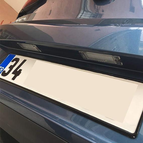 GOFORJUMP 2pcs Car-Styling LED Luces de la Placa de la Licencia para V/auxhall O/Pel Astra H J Corsa C D Insignia Tigra B Twintop Vectra C Zafira B: ...