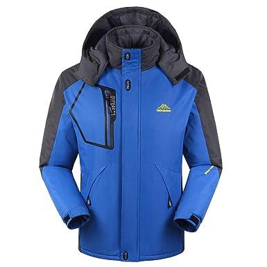Beladla Chaqueta de Montaña Esquí Impermeable para Hombres Además de Terciopelo Espesar Chándales Jacket Excursionismo Ropa de Deporte: Amazon.es: Ropa y ...