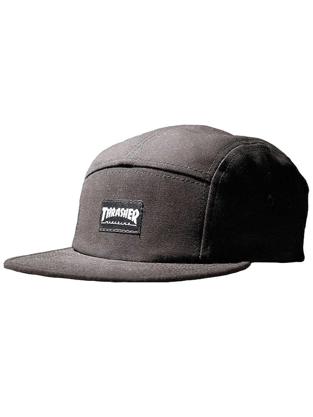 Thrasher Logo 5 Panel Camp Hat Black (Black) at Amazon Men s Clothing store  b9fb2266ac5