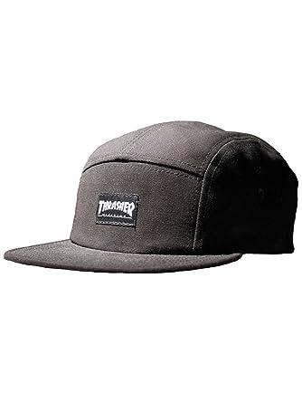 Thrasher Logo 5 Panel Camp Hat Black (Black) at Amazon Men s Clothing store  3a163c1997b3