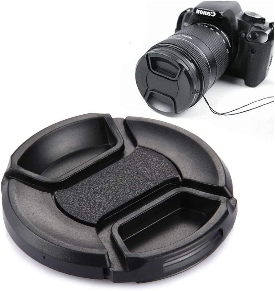 Ychaoya Camera Lens Accessories 58mm Marrow Pinch Camera Lens Cap Black