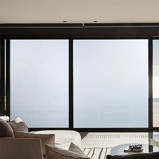 Película para ventana de cristal esmerilado smytshop fácil pelar y pegar extraíble espejo Decor translúcido puerta corredera ventana adhesivo (45 x 100 cm/17