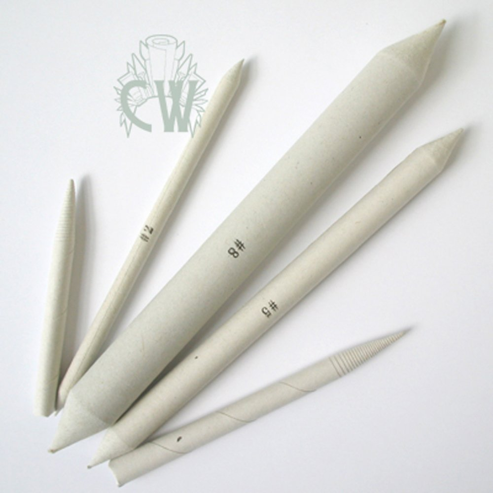 Curtisward Pack of Paper Stumps & Tortillons Set of 5. For Blending Pastel Pencil & Charcoal.