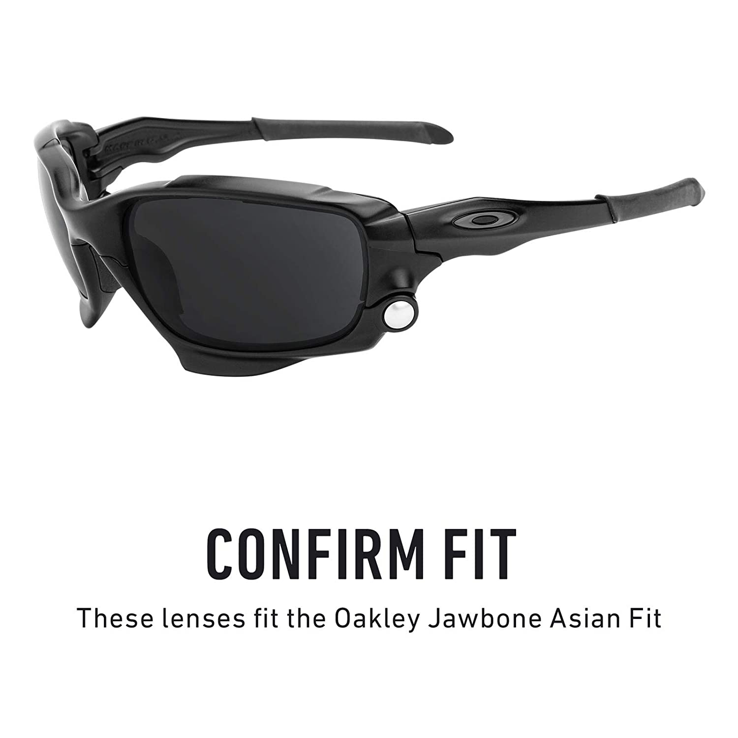245c22c66a69a Amazon.com  Revant Polarized Replacement Lenses for Oakley Jawbone (Asian  Fit) Elite Black Chrome MirrorShield  Sports   Outdoors