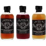 McClary Bros- 3 Bottle Drinking Vinegar Sampler: One 4oz bottle of Michigan Apple Pie & One 4oz bottle of Michigan Beet & Carrot and One 4oz bottle of Lemon & Ginger