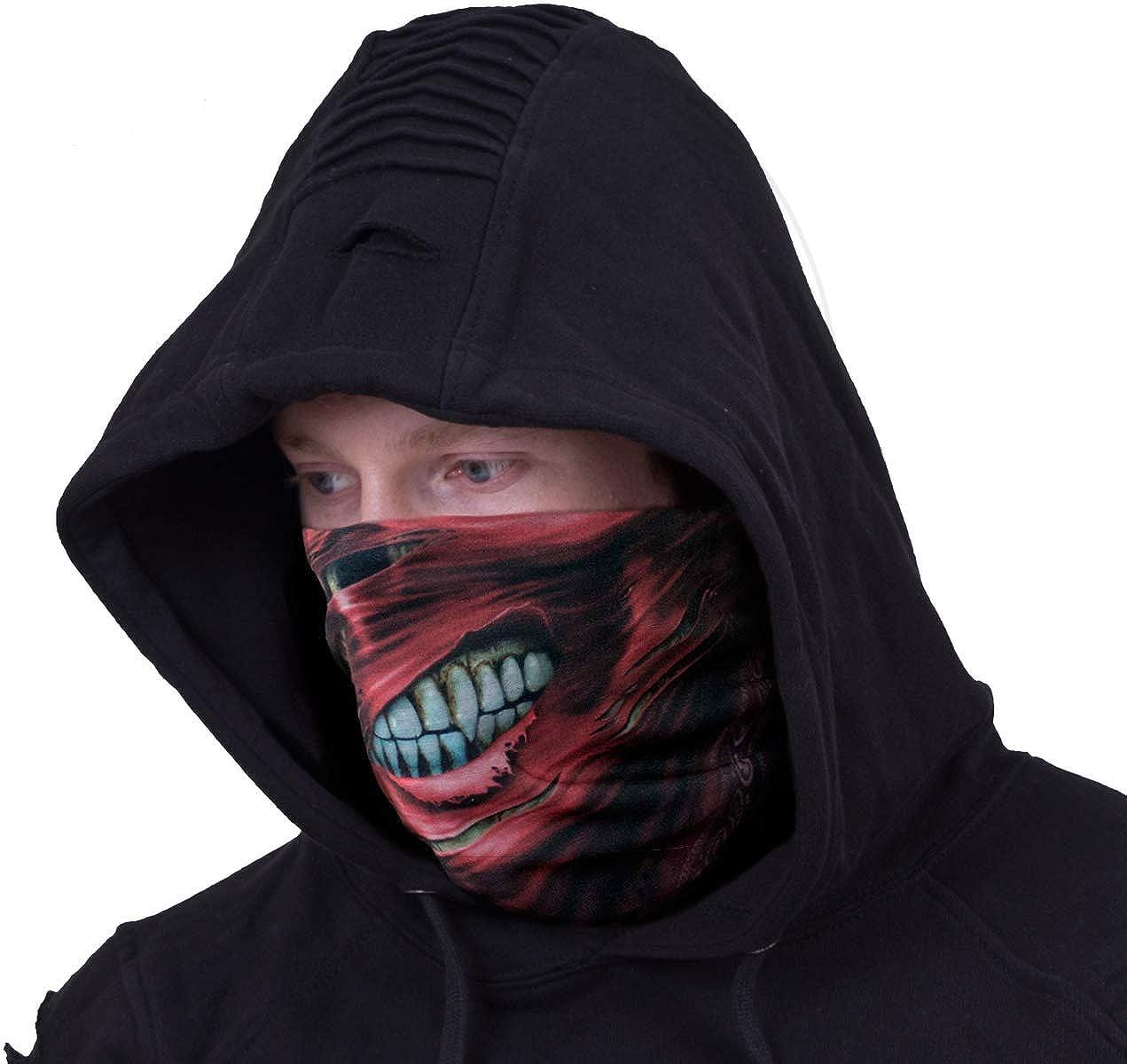 Torn Bandit Spiral Multifunctional Face Wraps Black