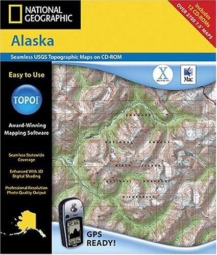 National Geographic TOPO! Alaska Map CD-ROM (Mac)