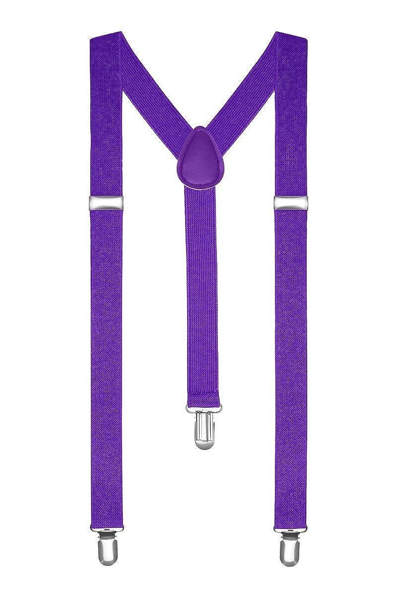 Boolavard Bretelle Uomo Donna Unisex forma a Y regolabile ed elastico per i pantaloni molto forti Clip vari colori