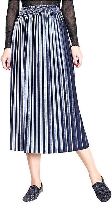 FELZ Falda Mujer Corta Falda Mujer Talla Grande Falda Plisada ...