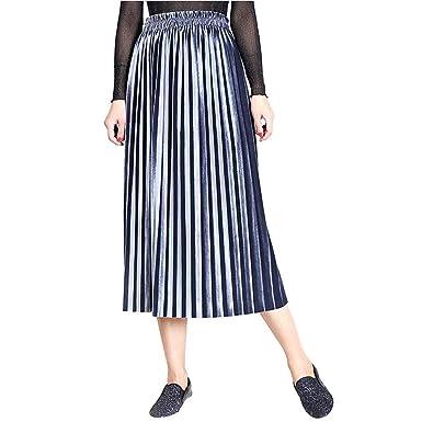 FELZ Falda Mujer Corta Falda Mujer Talla Grande Falda Plisada para ...