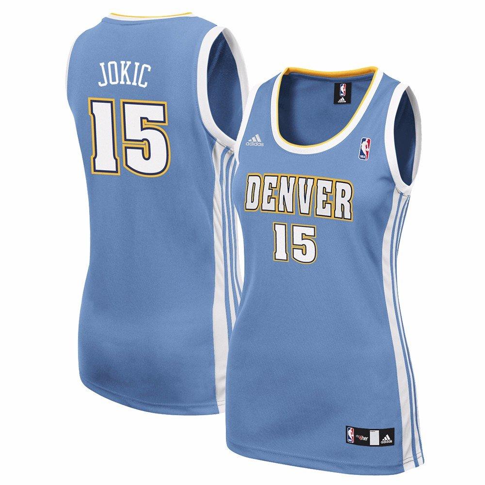 check out 51bec 6a7be Amazon.com : adidas Nikola Jokic Denver Nuggets NBA Blue ...