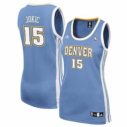 Nikola Jokic Denver Nuggets NBA Adidas Women s Light Blue Replica Jersey ... 783195e117