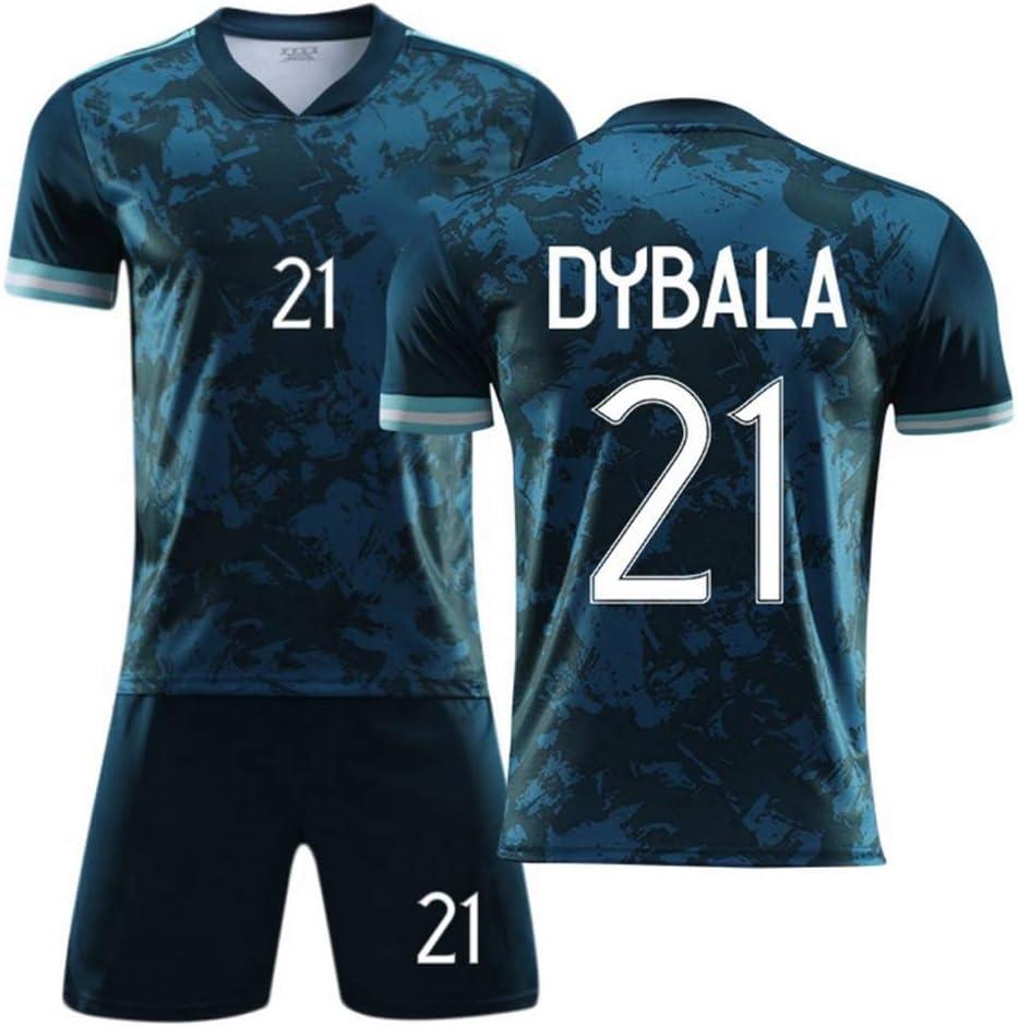 WASX #21 Dybala Soccer Uniform Set Football Jersey,Shirt Shorts Kits for Kids Boys Youth Children,28