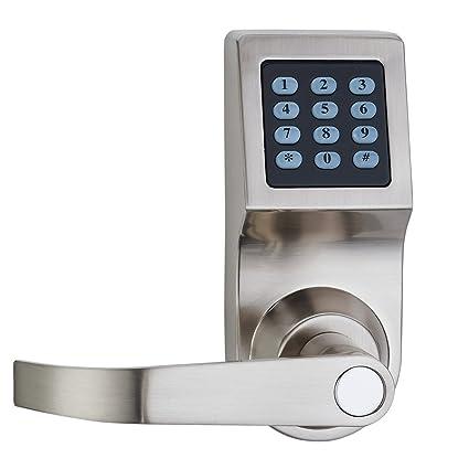 haifuan cerradura de puerta Digital, desbloquear con tarjeta M1, código y clave, mango