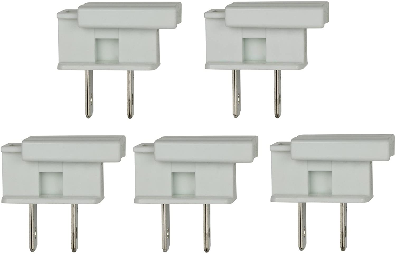 Creative Hobbies SPLUG, Easy Snap On End Plug, For SPT-1 Wire, Residential Grade, Polarized, Non-Grounding, 8 Amp, 125 Volt, White, Pack of 5 Plugs