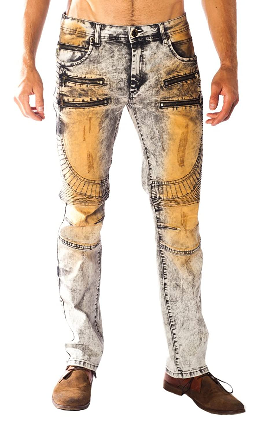 """Gambler"" Gold Leaf Grey Men's Jeans"