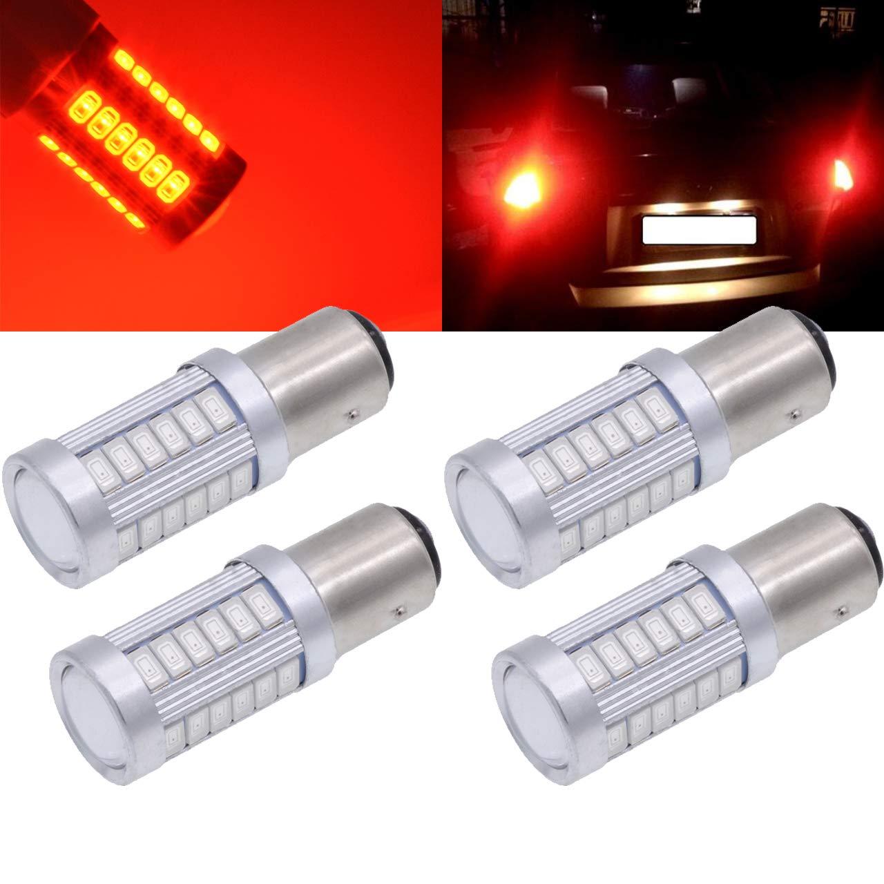 TUINCYN BAU15S PY21W LED Bulb White Brake Light Bulb Super Bright 8000K 5630 33SMD 1156 7507 12496 5009 7507AST Turn Signals Light Back Up Reverse Light Parking Light DC 12V (Pack of 2)
