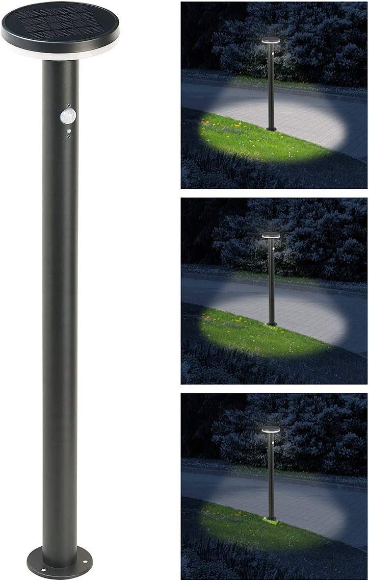 Lunartec Borne lumineuse solaire 600lm /à LED SWL-600 avec d/étecteurs