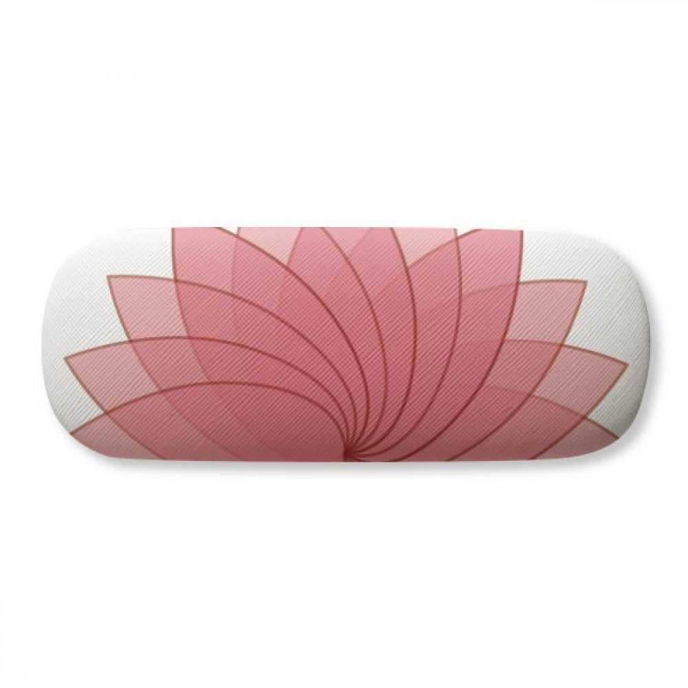 Plant Flower Lotus Flower Illustration Glasses Case Eyeglasses Clam Shell Holder Storage Box