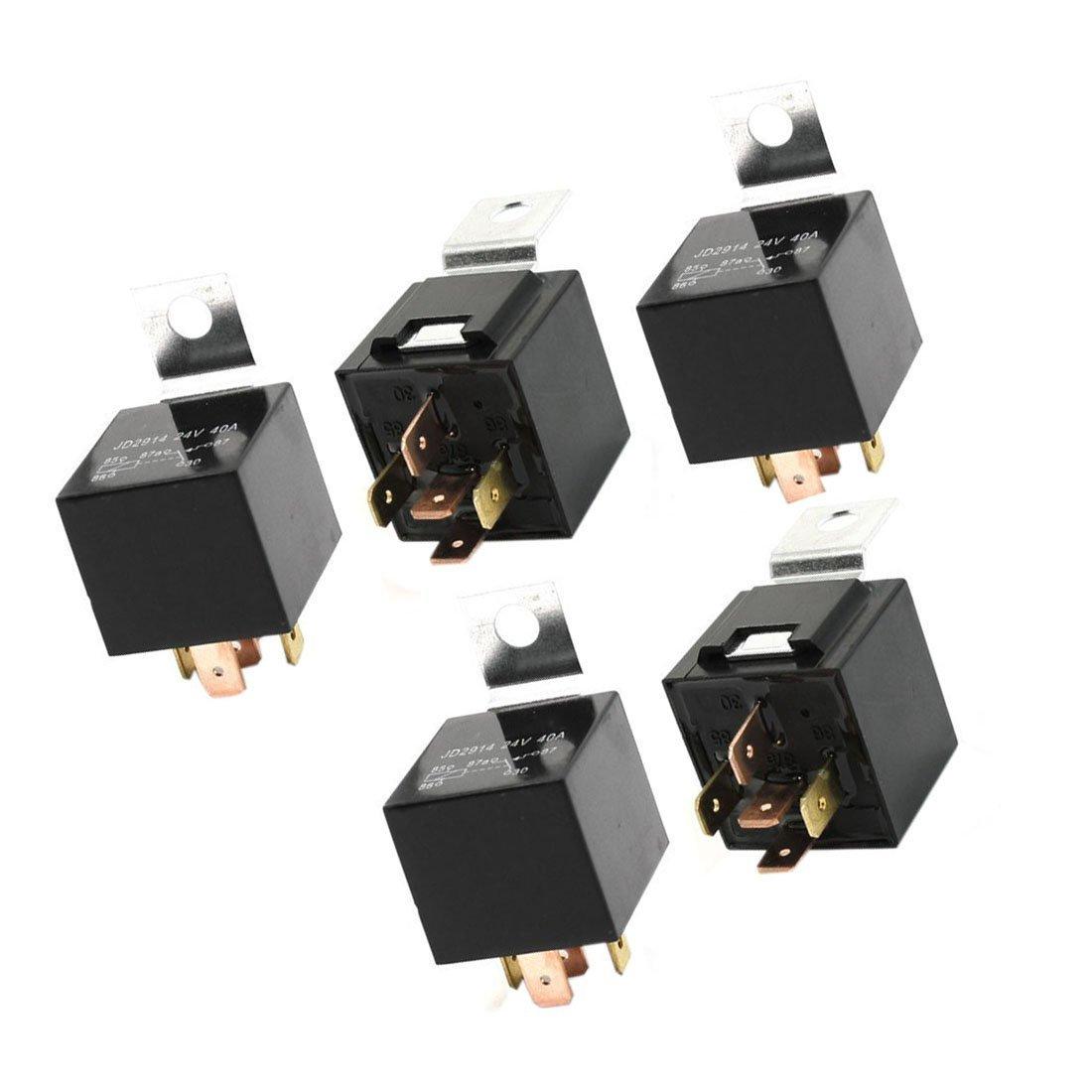 Rele de auto - TOOGOO(R)5 Pzs Interruptor de rele de coche vehiculo Potencia 5-Pines 24 voltios 40 amperios: Amazon.es: Coche y moto