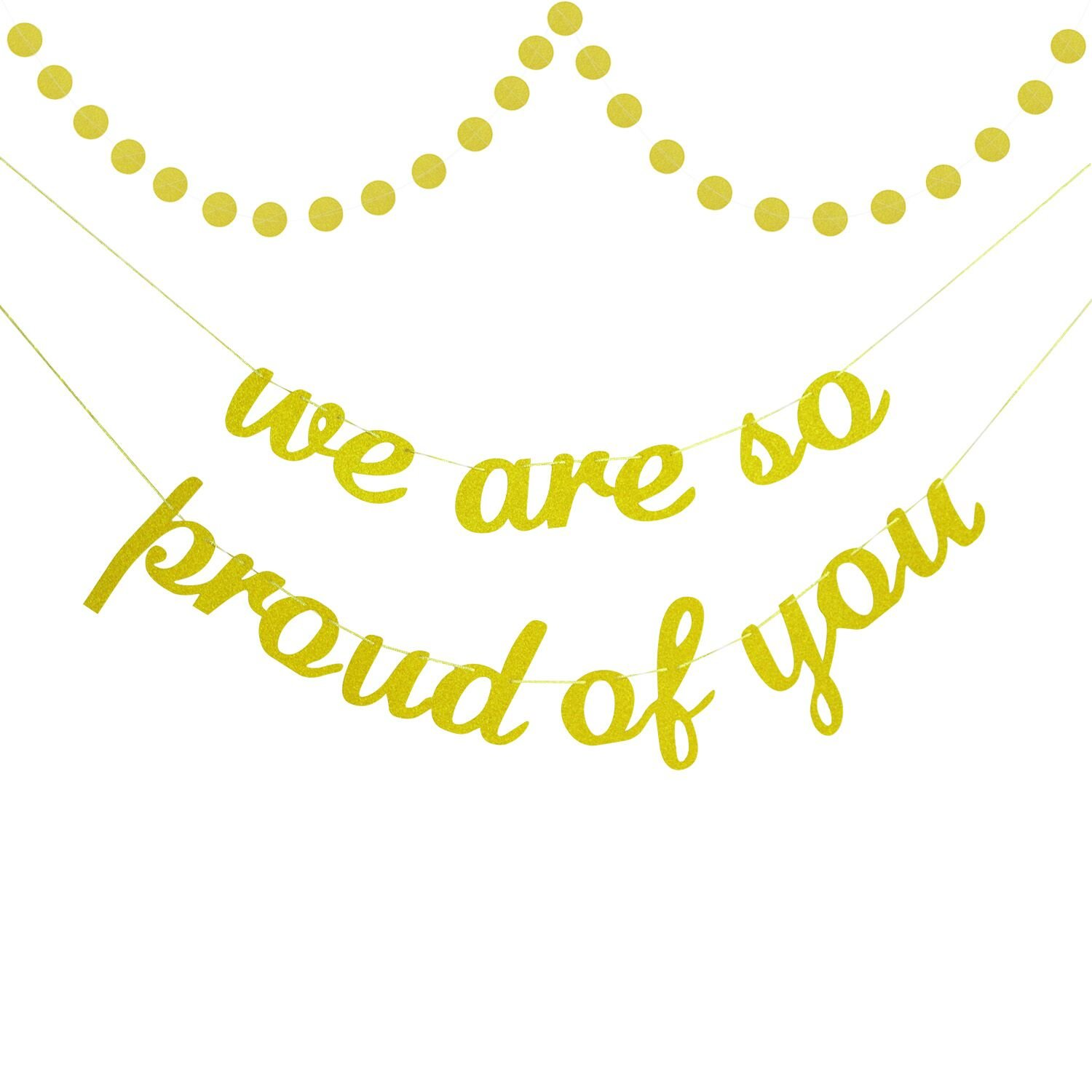 30%OFF Gold Glitter We Are So Proud of You Banner | Graduation ...