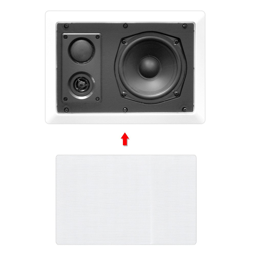 Amazon.com: Pyle In-Wall / In-Ceiling Dual 5.25\'\' Enclosed Speaker ...