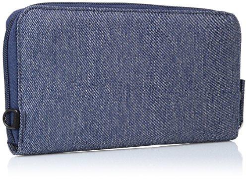 Pacsafe RFIDsafe LX250 Anti-Theft RFID Blocking Zippered Travel Wallet, Denim