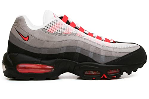 buy popular 11fca 84a6a Amazon.com   Nike Air Max 95 Mens Running Shoes  609048-106  hite Solar  Red-Neutral Grey-Medium Grey Mens Shoes 609048-106   Road Running