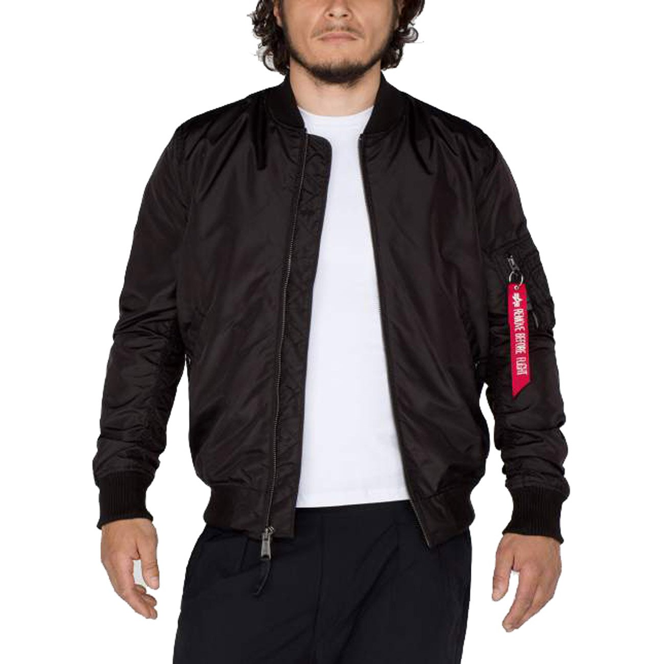 Alpha Industries Herren Jacke MA 1 TT Long black , Größe:S