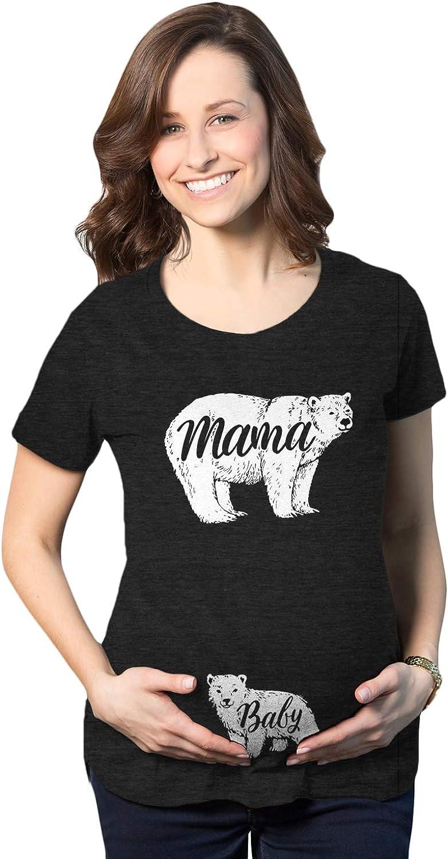 Maternity Mama Bear Baby Pregnancy Announcement T Shirt Cute Reveal Bump Tee