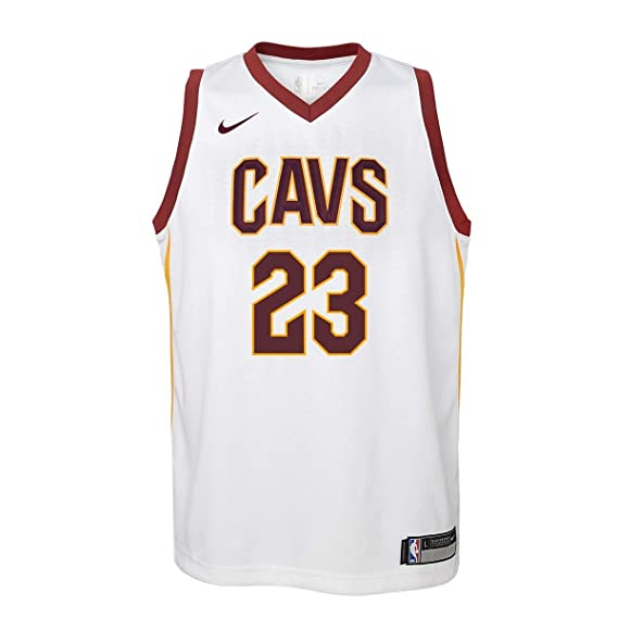 Nike NBA Cleveland Cavaliers Lebron James 23 LBJ 2017 2018 Association Edition Jersey Official, Camiseta de Niño: Amazon.es: Ropa y accesorios
