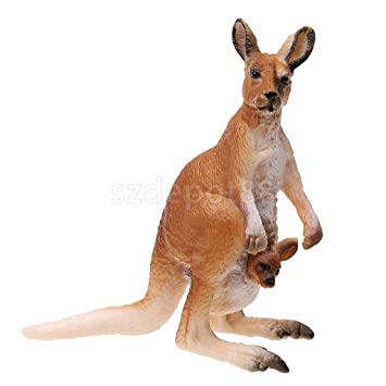 Lifelike Kangaroo Animal Model Wild Life Role Play Figure Figurine Kids Toy