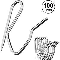Natuce 100 Pcs de Metal Cortina Ganchos Pasadores-On