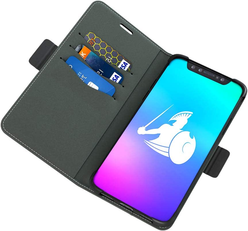 DefenderShield Compatible iPhone Xs Max EMF & 5G Radiation Protection Case - Detachable Magnetic EMF Shield & RFID Blocker Wallet Case