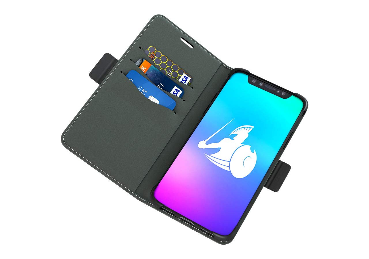 DefenderShield Compatible iPhone Xs Max EMF Radiation Case - Detachable Magnetic Anti Radiation Shield & RFID Blocker Wallet Case - Cell Phone Radiation Protection by DefenderShield