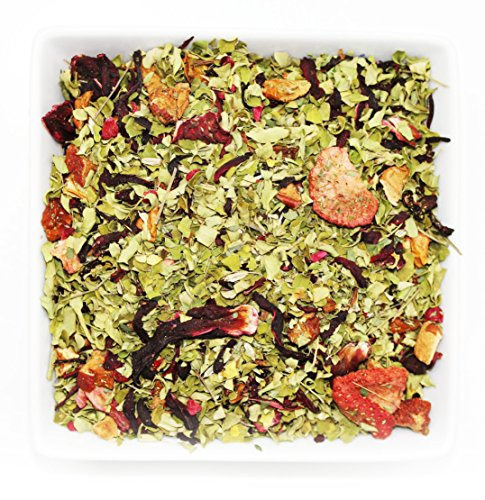 Tealyra - Pink Berry Moringa - Strawberry - Hibiscus - Fennel - Wellness Herbal Loose Leaf Tea - Digestiv and Detox - Caffeine Free - 112g (4-ounce) ()