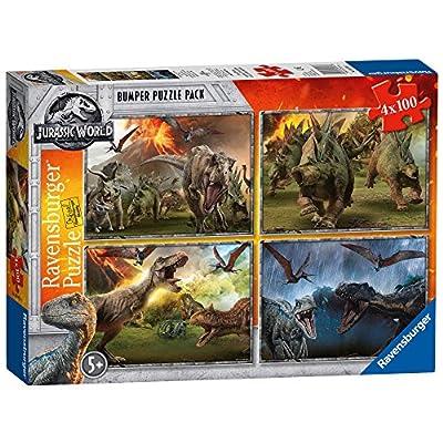 Ravensburger Jurassic World Puzzle 4x100 Pezzi 6976
